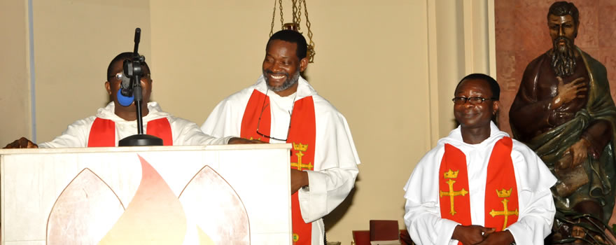 Meet the New Acting Director of St. Jude (Rev. Fr. Valentine Anyanwu, OP) (Right)